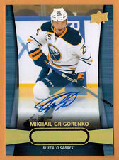 2013-14 , UPPER DECK , OVER TIME , MIKHAIL GRIGORENKO , CARD #30 , AUTO