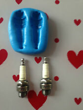 Car spark plugs  silicone mould ( boys .cupcake topper.sugar paste.truck.mens.)