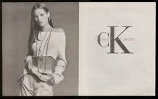 1993 Kate Moss photo Calvin Klein jeans print ad