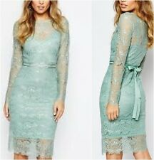 Body Frock Wedding Primrose Embellished Waist Dress in Mint UK 16 US 12 (ca8)