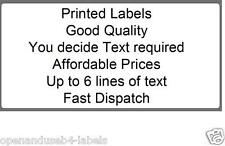 2000 White Printed Personalised Self Adhesive Labels 50 x 25mm Labels on Roll