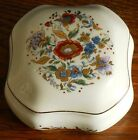 A medium sized Peint a La Main style ceramic box with gilt flowers