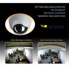 CCTV Vandal Proof Dome Camera Super Wide Angle 1.6mm No Fisheye View