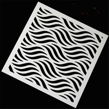 New Wave Pattern Stencil for art craft spray cake and Home decor