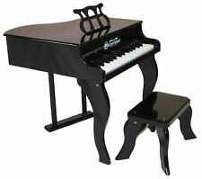 NEW Schoenhut 30 Key Fancy Baby Grand With Bench - BLACK - Free Shipping