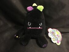 "So So Happy Mad Dog Plush 6"" Stuffed Black Monster Character Jazwares NEW"
