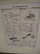 1973 Cadillac Eldorado Crash  part # sheets
