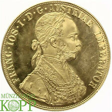 Z895) Österreich 4 Dukaten 1915 Franz Joseph I., 1848-1916