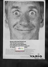 VARIG BRAZILIAN 1971 GUESS WHO FOUND OUT WE FLY NONSTOP TO TOKYO FROM LA AD