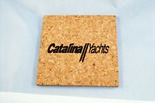 Catalina Sailboat Square 3/16in Thick Drink Coasters Set of 4 - CORK