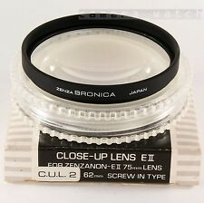 BRONICA 62mm CLOSE UP C.U.L.-2 for ZENZANON 40 50 75 105 150 200 ETR Si ETRS etc