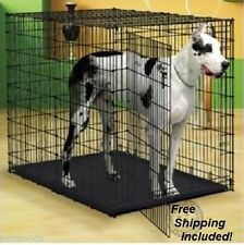 """XXL Dog Crate Super Strong 54"""" Big Dog Crate Extra Large Tall Kennel Metal Cage"""