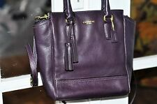 COACH Purple Leather Purse Excellent Used Condition Handles and shoulder strap
