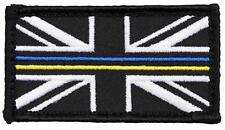 HM COAST GUARD UNION JACK BADGE VELCRO BACKED THIN BLUE/YELLOW LINE - Small