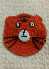 Knitted Crocheted Tiger Badge / Brooch, Lovely Accessory, Free P&P