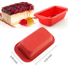 Rectangle Brick Soap Toast Bread Cake Baking Mold Loaf Tin Silicone Bakeware Pan