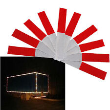 10 PCS Light Reflective Sticker Safety Decals Tape Red & White for Vehicle Truck