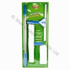Telescopic Window Cleaning Kit 1.3m Handle Cleaner Pole Squeegee Wash Washing