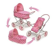 "3-in-1 Doll Toy Pram,Carrier & Stroller - Fits American Girl18"" Dolls/My Life As"