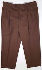 ZANELLA Pants ANDREW Brown PLEATED Wool MENS Size TROUSER Sz 38 28 ITALY Man FIT