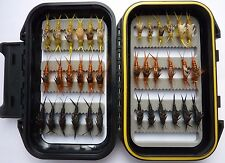 36 Kaufman Stonefly Collection * Trout Fishing * 3 Dozen w/ Waterproof Fly Box