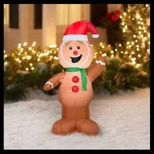 CHRISTMAS GINGERBREAD MAN GEMMY YARD INFLATABLE AIR BLOWN 4 FT TL DECOR CUTE!!