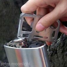 Multifunktion Mini Notüberleben Messer Kreditkarte  Camping Werkzeug 11 in1