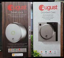 New August Smart Door Lock + Doorbell Cam Combo Apple Home Kit Silver Latest Mod