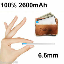100% 2600mah Ultra Slim Card Power Bank Mobile Portable External Battery Charger