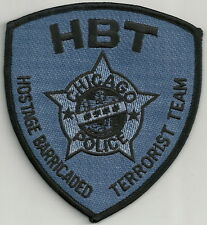 CHICAGO ILLINOIS POLICE HBT TERRORIST HOSTAGE TEAM TACTICAL PATCH