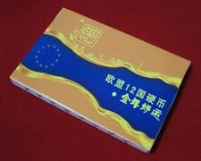 EU Coins Set, 12pcs, 1 Euro Cent (UNC) in Display Box 全新欧盟12国1欧分硬币 精美礼品盒