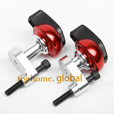 CNC Frame Sliders Crash Pads Left Right For Yamaha YZF R6 2006 2007 Red