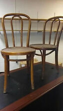 2 Antique Thonet Bent Wood Chairs with Original Factory Label on one Chair