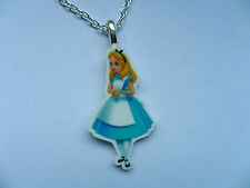 Very Cute Disney Alice in Wonderland Curb Chain Necklace  Free UK Post