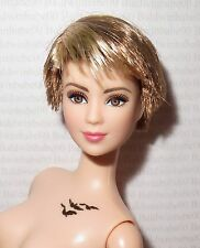 (B)NUDE BARBIE (B~STRAWBERRY BLONDE ARTICULATED INSURGENT TRIS LEA DOLL FOR OOAK