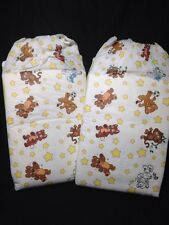 Crinklz Medium Adult Baby Diapers 2 Pack Sample Plastic Backed ABDL Nappy