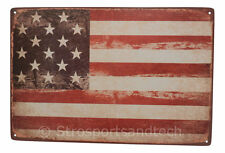 USA Flag Tin Sign Bar Pub Cafe Diner Garage Wall Decor Retro Metal Art Poster