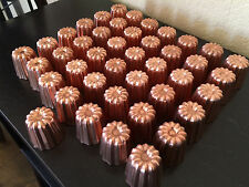 SET 45 PCS FRENCH CANNELE COPPER MOLD MOULD