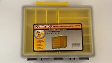 PLASTIC 2 TRAY 8  COMPARTMENT ORGANIZER STORAGE BOX CRAFT FISHING SCREWS YELLOW