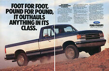 1989 Ford F150 Pickup Truck 2 Page Print Ad