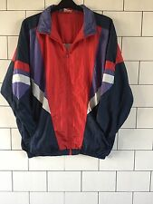 UNISEX VINTAGE RETRO OLD SCHOOL 80'S URBAN SHELLSUIT JACKET WINDBREAKER XL #15