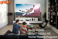 BenQ W2000 3D Rec 709 HDTV FULL HD HOME THEATRE CINEMA PROJECTOR + 4x 3D Glasses