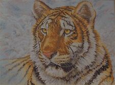 Bucilla Heirloom Collection Siberian Tiger 16x12 Counted Cross Stitch Kit 45432