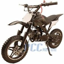 FREE SHIPPING KIDS 49CC 2 STROKE GAS MOTOR DIRT MINI POCKET BIKE BLACK U DB50X