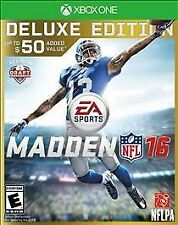XBOX ONE MADDEN 16 NFL DELUXE EDITION FOOTBALL GAME FACTORY SEALED BRAND NEW