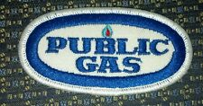 "PUBLIC GAS Iron or Sew-On Patch 3.5""X2"""