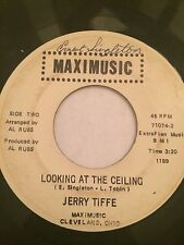 """RARE UNKNOWN OBSCURE SOUL POPCORN 45/ JERRY TIFFE """"LOOKING AT THE CEILING"""" HEAR!"""