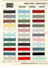 1960 1961 CHRYSLER IMPERIAL DESOTO DODGE LANCER DART PLYMOUTH PAINT CHIPS RM