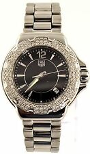 AUTHENTIC TAG HEUER  FORMULA 1 WAH1214.BA0852 DIAMOND BEZEL STEEL LADIES WATCH