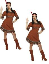 Ladies Sexy Native Indian Squaw Pocahontas Wild West Fancy Dress Costume Outfit